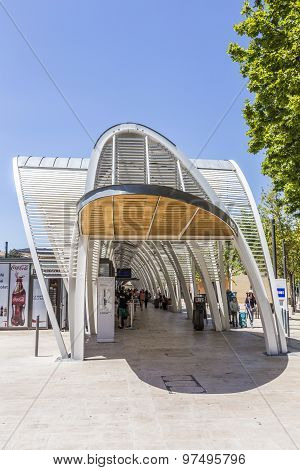 Modern Bus Station Gare Routiere In Aix En Provence