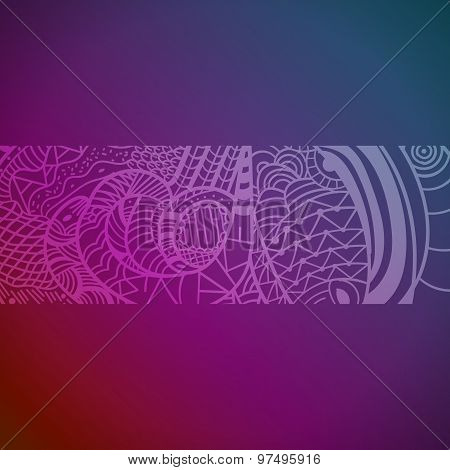 Abstract Hand Drawn Pattern With Snakes