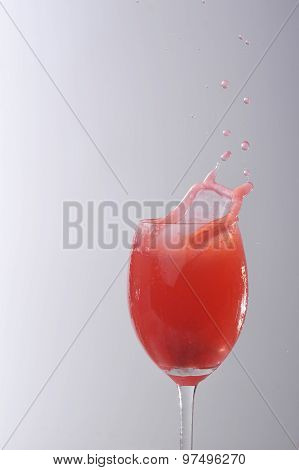 Red Liquid In Glass
