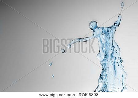 Water Splash As Human Figure