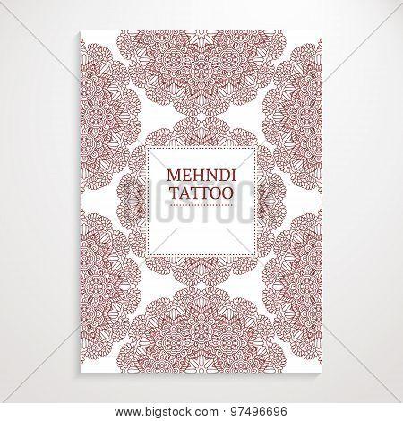 Poster template mehndi design
