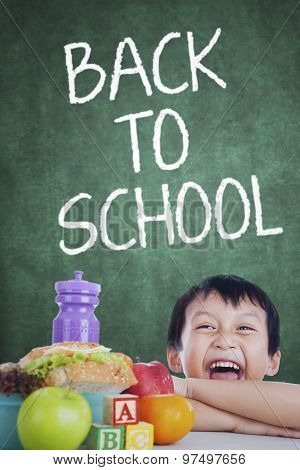 Boy With His Lunch Back To School