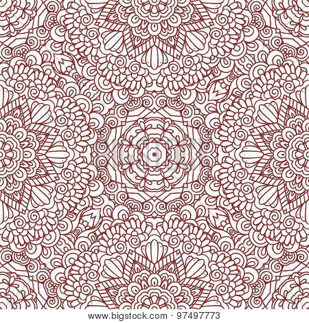 Mehndi henna design seamless pattern