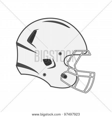 Design Of White Football Helmet
