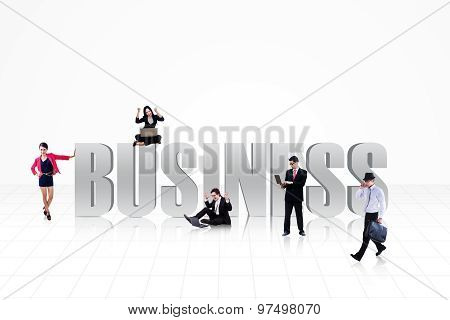 Business People On White