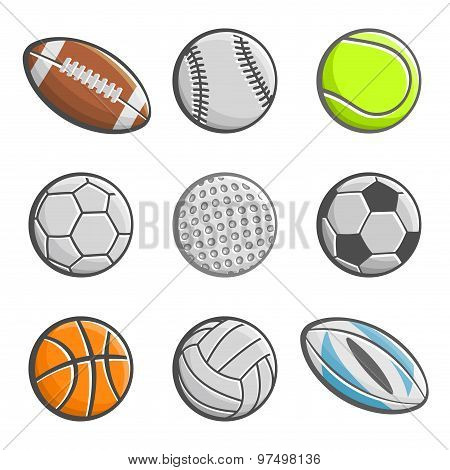 Images of sports equipment