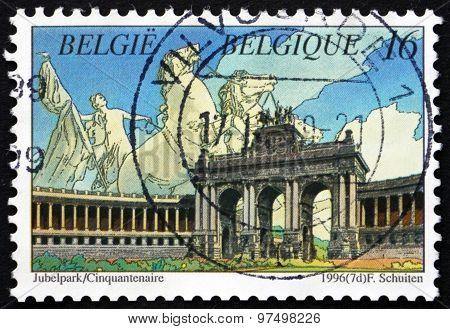 Postage Stamp Belgium 1996 Le Cinquantenaire, Park