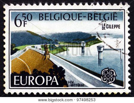 Postage Stamp Belgium 1975 Gileppe Dam, Jalhay