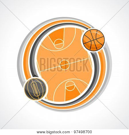 Abstract background on the basketball theme