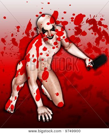 Osso sangrento viu palhaço