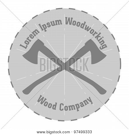 Vector Lavel Of Woodworking Company