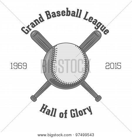 Vintage Vector Baseball Label