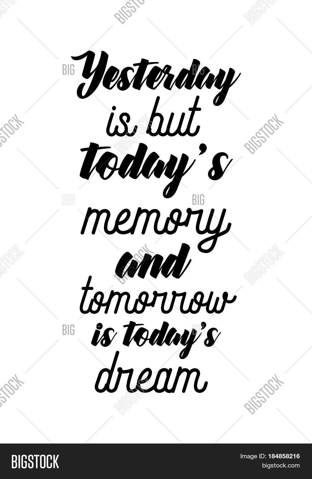 Quote For Today About Life Lettering Quotes Motivation About Vector & Photo  Bigstock