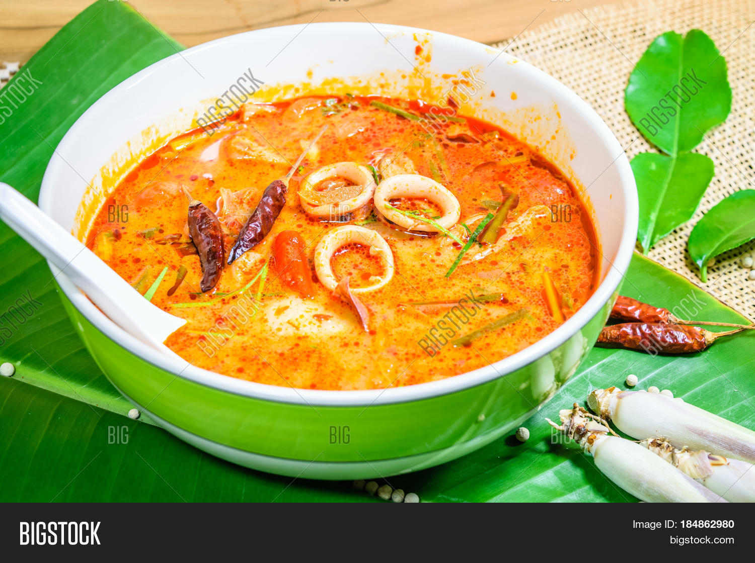 Tom yum thai spice soup thai food popular stock photo for 8 spices thai cuisine