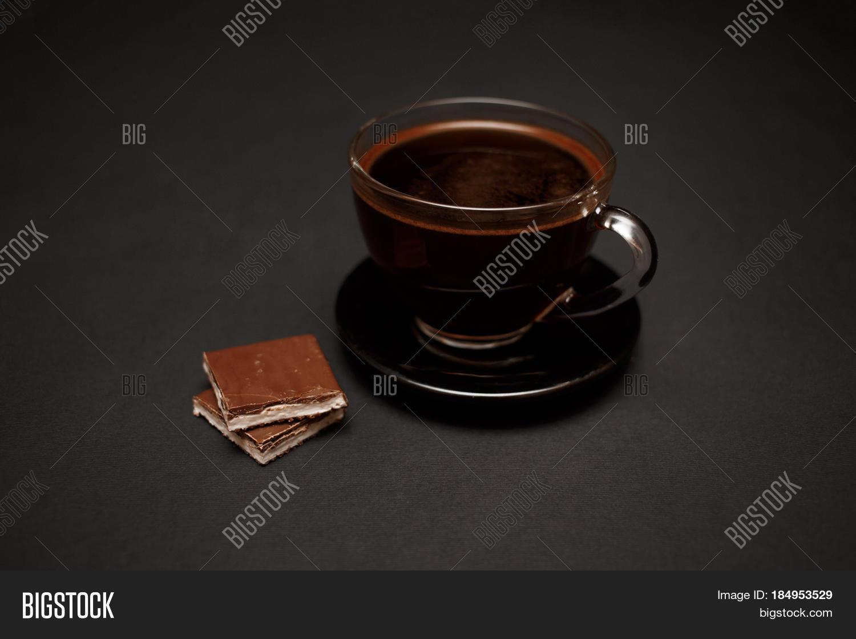 Natural Dark Coffee : Black natural fragrant coffee image photo bigstock