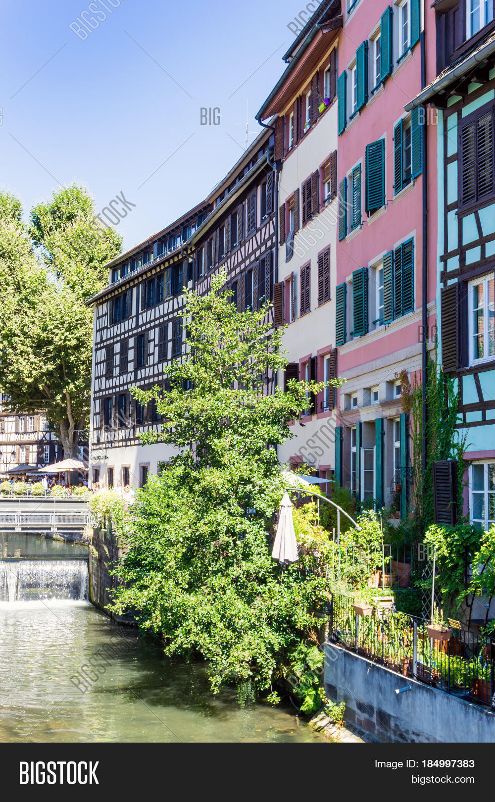 strasbourg france august 23 2016 street view of traditional houses in strasbourg alsace. Black Bedroom Furniture Sets. Home Design Ideas
