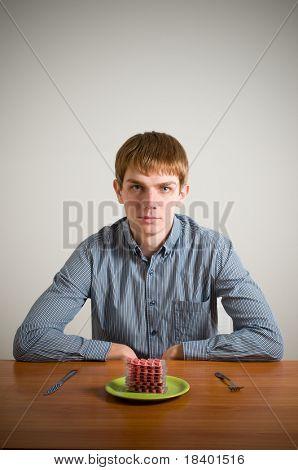 guy eating drugs