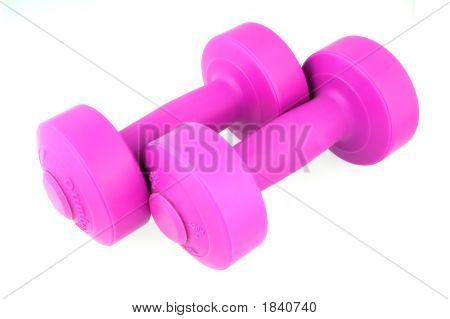 Ladies Pink Weights