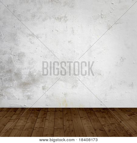 room interior vintage with grunge white wall