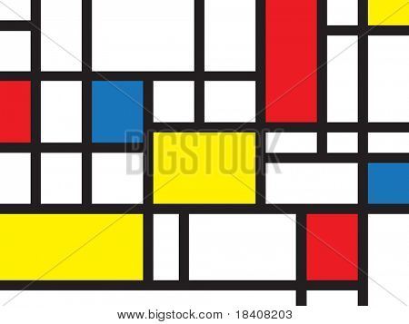 colorful rectangles; mondrian