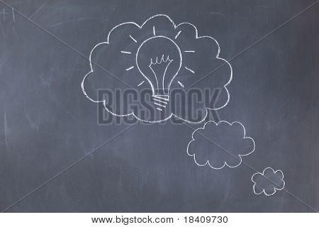 Cloud Bubbles On A Blackboard