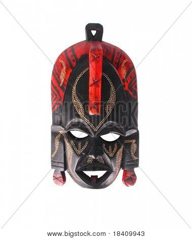 Tribal African mask used in traditional ceremonies.
