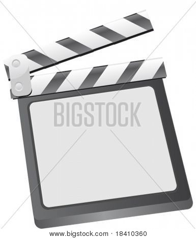 Vector illustration of film clapboard with space for picture