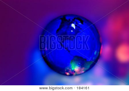Glowing Globe poster