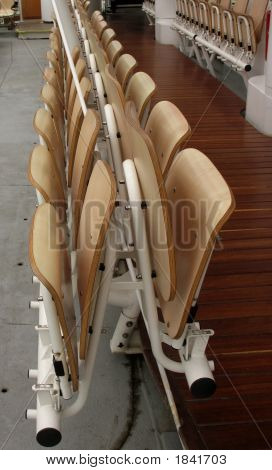 Folding Chairs On Boat In Paris