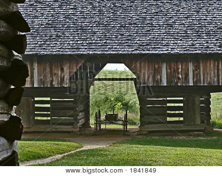 Barn And Wagon