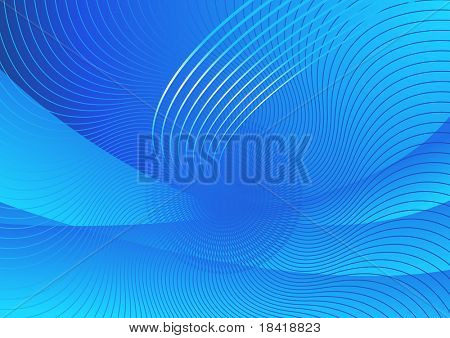 Vector abstract blue hi-tech background #2