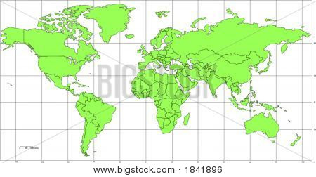 World Mercator Map Projection