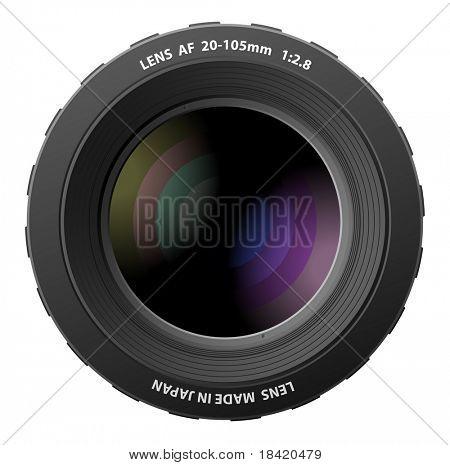 Vector illustration of realistic camera lenses