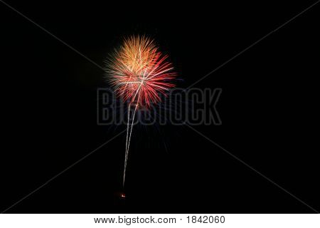 Red And Orange Fireworks