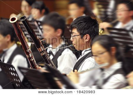 bassoon boy on concert