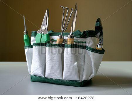 Garden tools in the bag