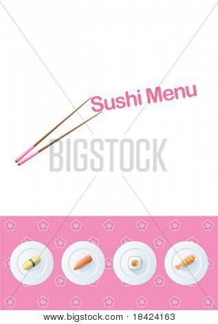 Sushi-Menü-template