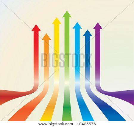 Colourful vector arrows
