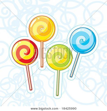 Four vector lollipops