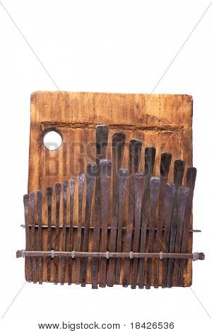 traditional African instrument kalimba or thumb piano