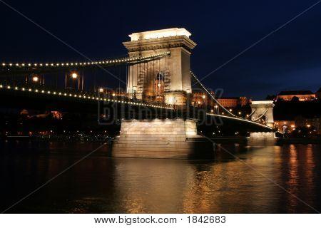 Chain Bridge In Night - Budapest, Hungary