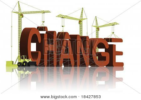 change the world make things better and improve solve problems and achieve success red word 3D