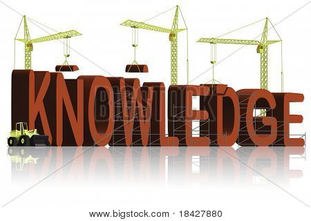 build knowledge or intellect go to school and learn get education and know