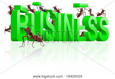 ants building business in word make your company