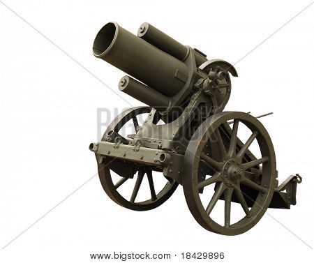 Prussian howitzer gun from first world war. Used in the Battle of Verdun, 1916.