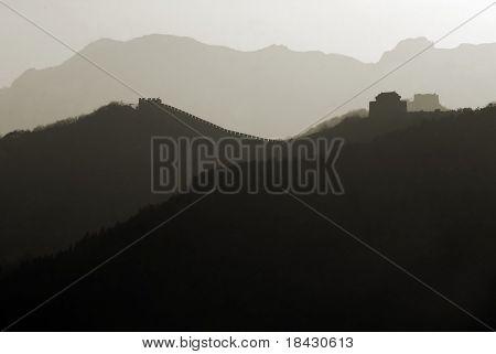 Chinese Great Wall near Peking in Badaling