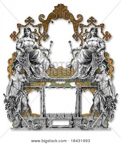 Victoriano marco dos hombre dos anciana