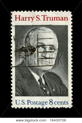 USA - CIRCA 1980: A stamp printed in USA shows image portrait Harry S. Truman (May 8, 1884 - December 26, 1972) was the 33rd President of the United States circa 1980.