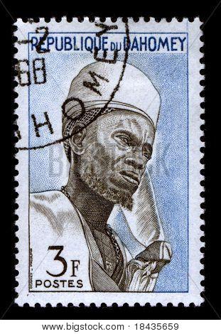 REPUBLIQUE DU DAHOMEY - CIRCA 1968:A stamp printed in REPUBLIQUE DU DAHOMEY shows image of the African leader, circa 1968.