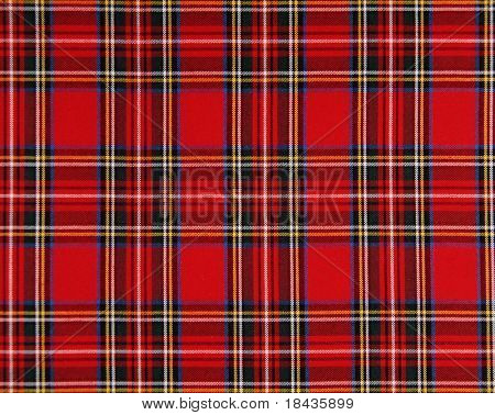 Scottish tissue - red and blue